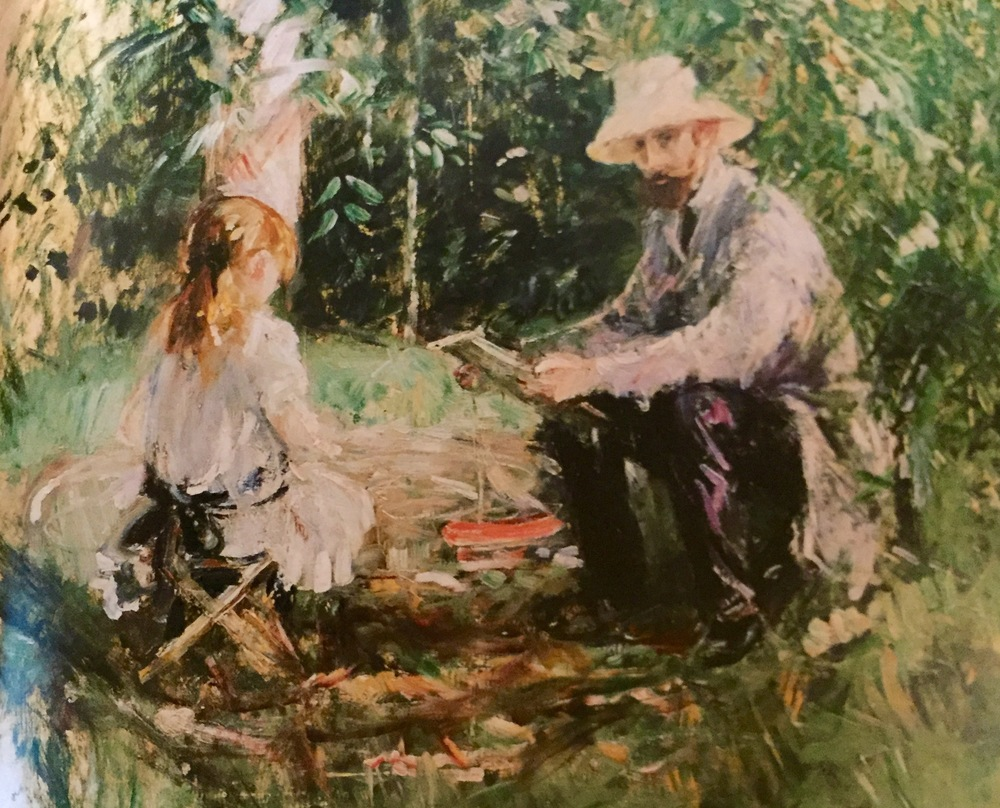 Eugene Manet and his Daughter in the Garden                              Berthe Morisot