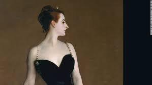 Madame X           Sargent later added the strap.