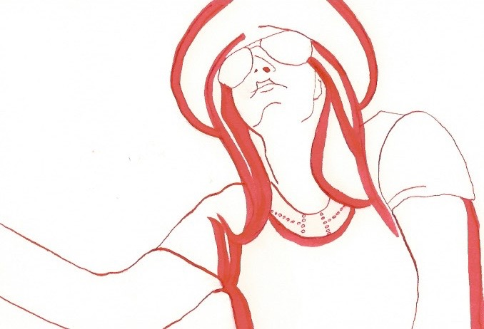 Self portrait in Red Lines