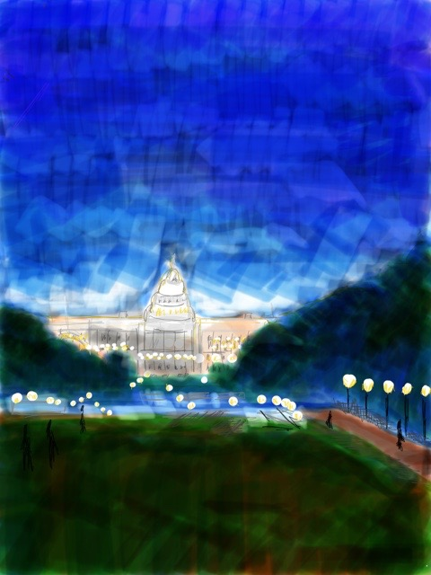 Ipad painting          The Capitol