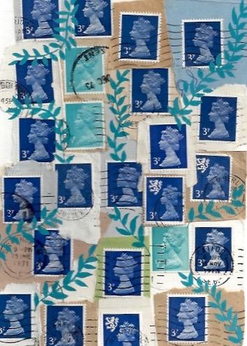 Glued Forever Stamps