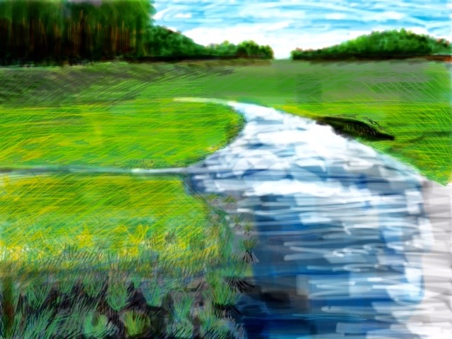Rehoboth Canal                           IPad Painting