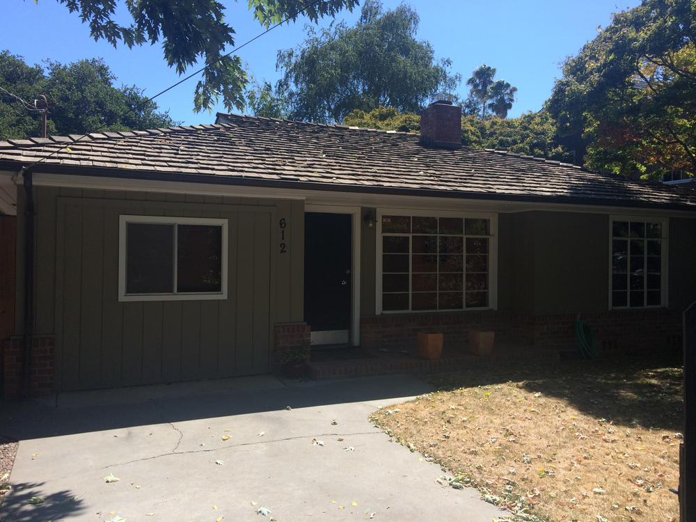 SOLD:  612 San Benito Ave, Menlo Park  Charming home with bonus guest cottage  Offered at $1,100,000 - represented buyer