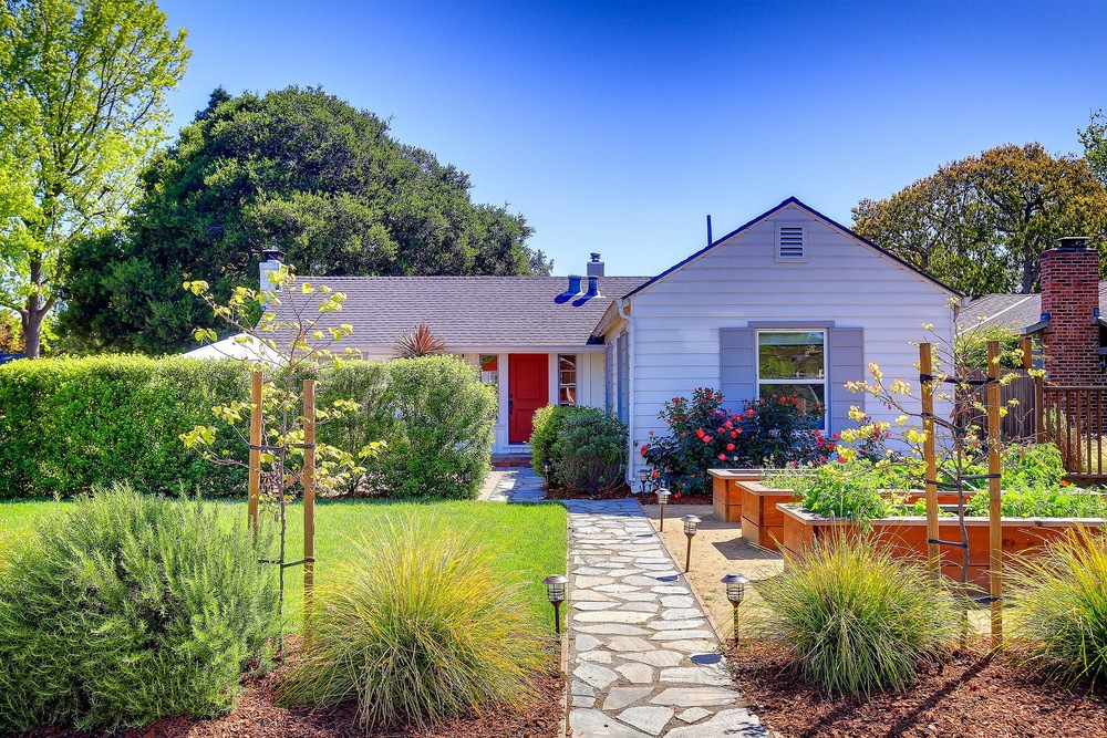 SOLD:  1056 Greenwood Dr, Menlo Park  Light filled, updated home with lush lawn and raised garden beds  Offered at $1,595,000