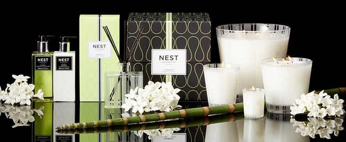 We carry the complete line of Nest Fragrances -  candles, diffusers, liquid hand soap, and lotion.