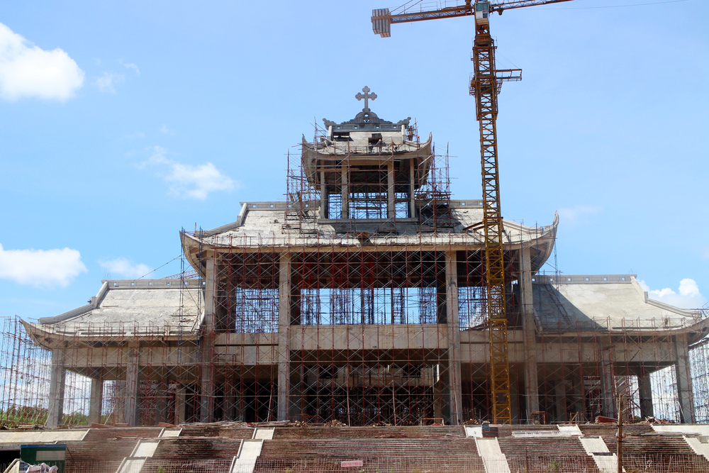 Work in progress of the new church