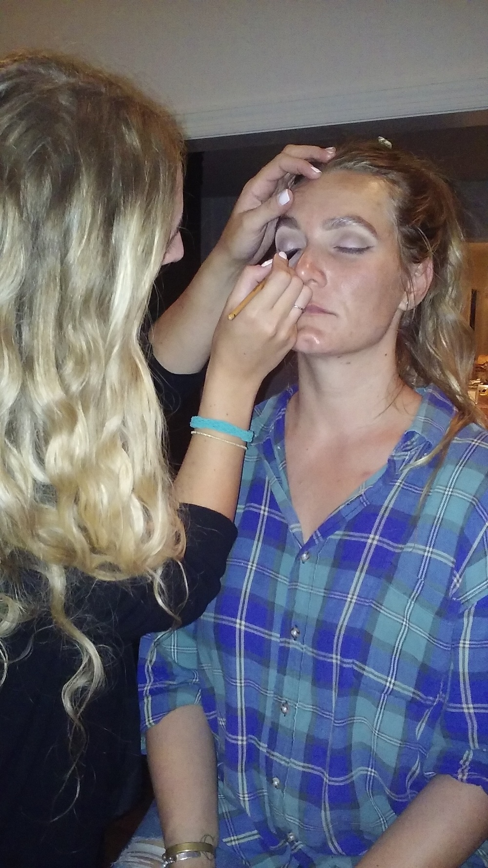 Preparing artist for Makeup, CMA, Chris Stapleton, New Artist of the Year