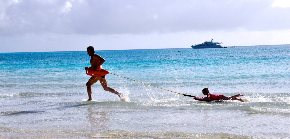 Boris Talan swim coaching children in open water