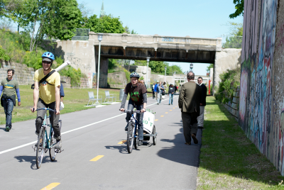 The Dequindre Cut Greenway, opened in May of 2009.