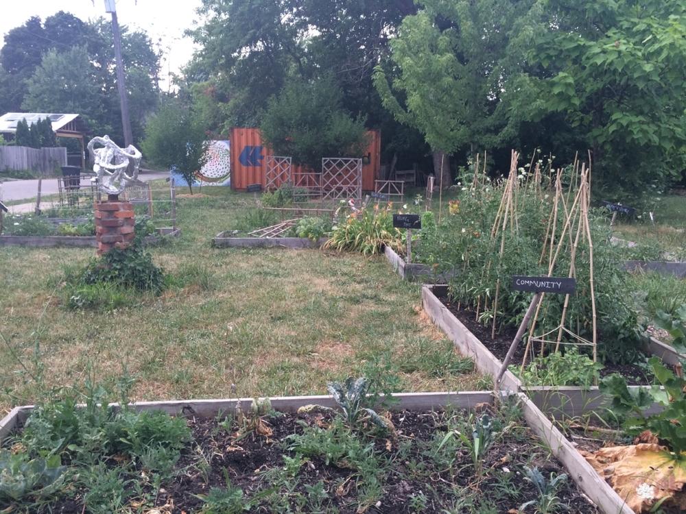 A community garden near West Village.