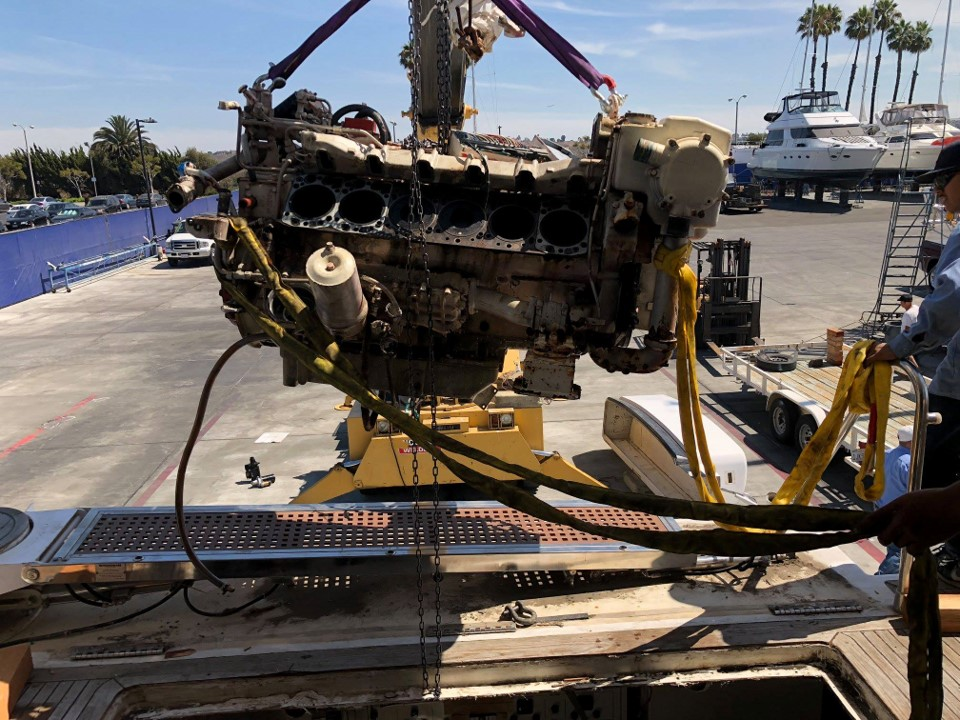 overhaul for two 12 V MAN from a Johnson Motor Yacht