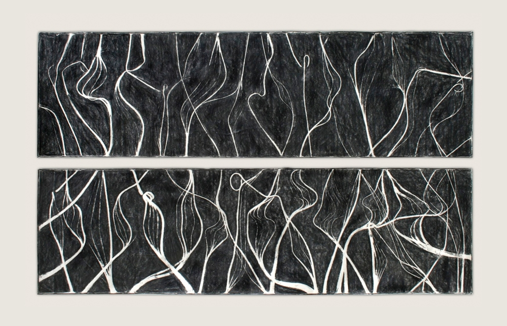 Burnt Panel Diptych No. 29 Frottage