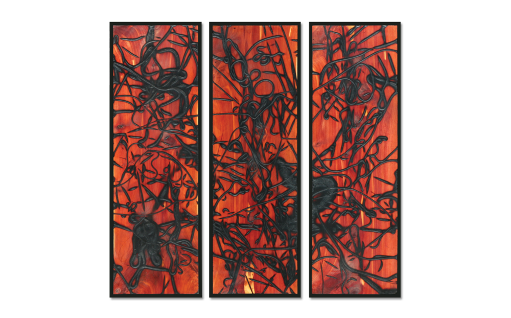 Burnt Panel Triptych No. 18