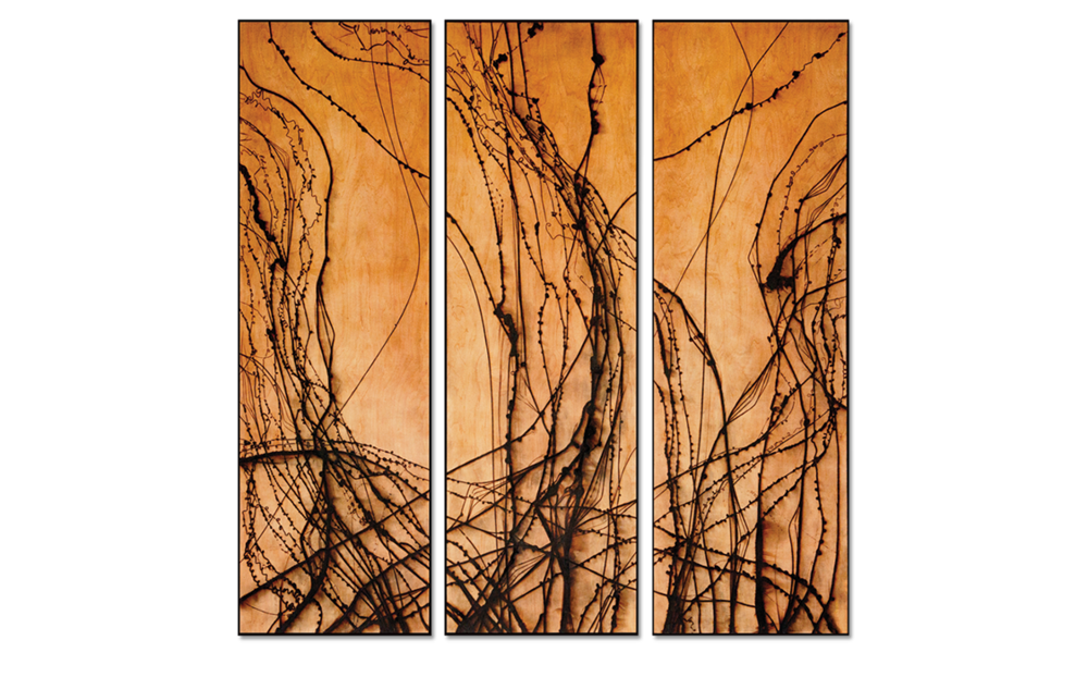 Burnt Panel Triptych No. 8