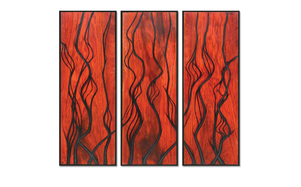 Burnt Panel Triptych No. 17