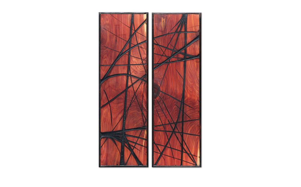 Burnt Panel Diptych No. 17