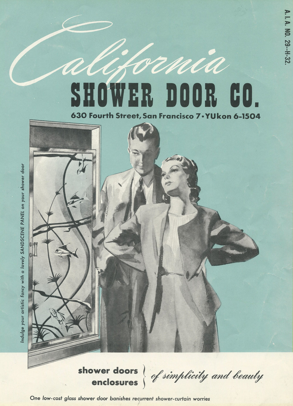 California Shower Door Company advertisement, 1935