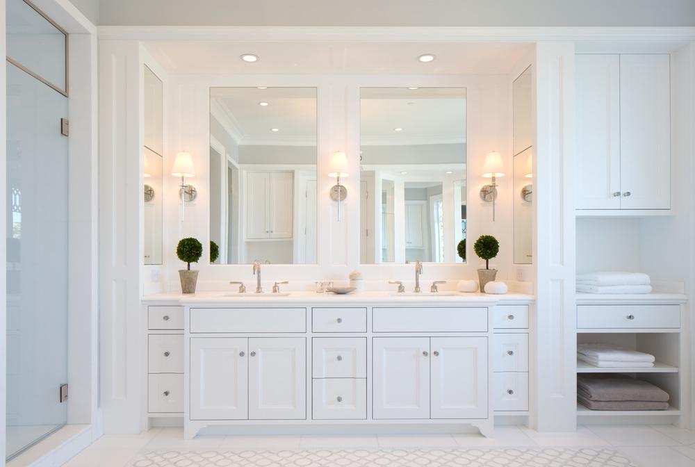 Recessed mirrors