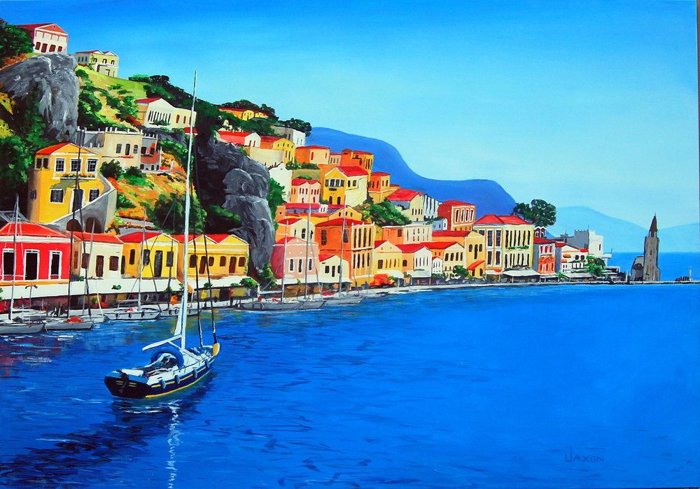 Sailing into Symi.JPG