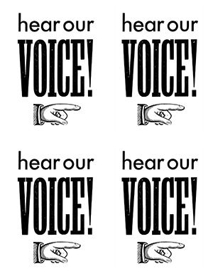FREE DOWNLOAD HEAR OUR VOICE POSTCARDS