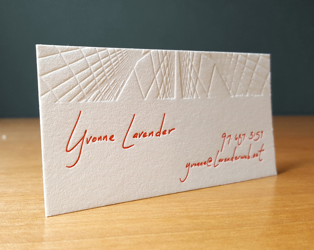 custom business cards — Blackbird Letterpress
