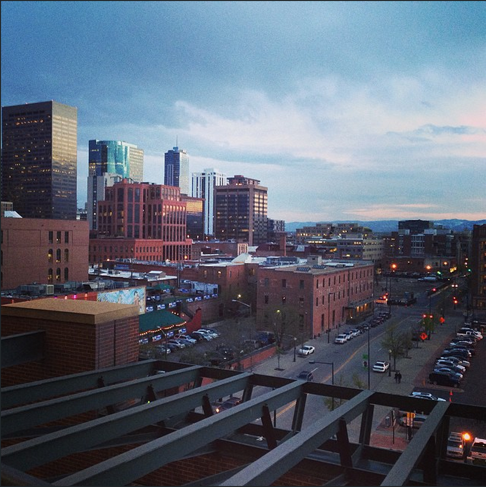 The view of #denver from #coorsfield for my first #co #rockies game