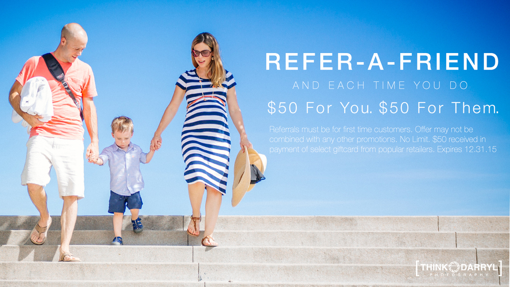 Think Darryl Photography Referral Program