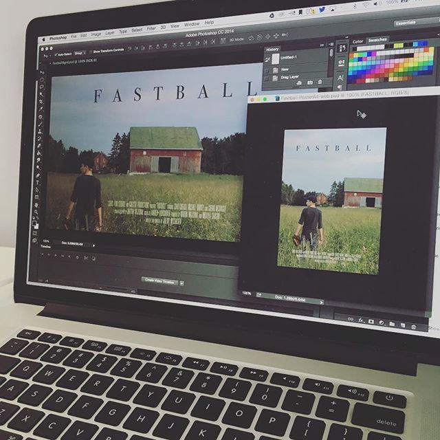 Fastball poster designs done! #fastballfilm #shortfilm