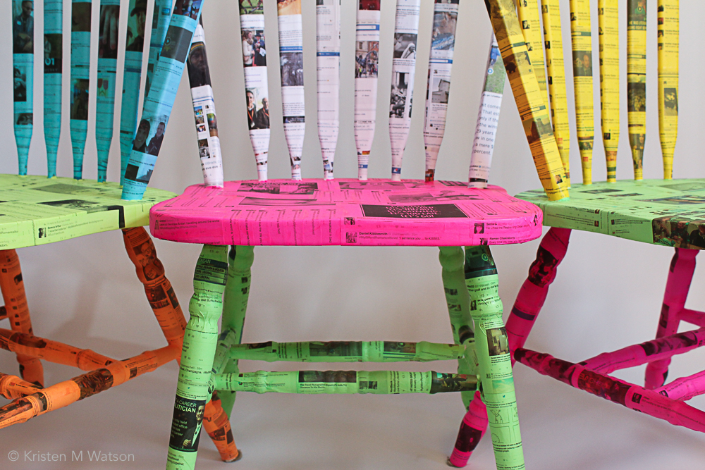 Feed_Hardwood chairs, adhesive, social media feed printed paper, 2016, kristenmwatson-5.jpg