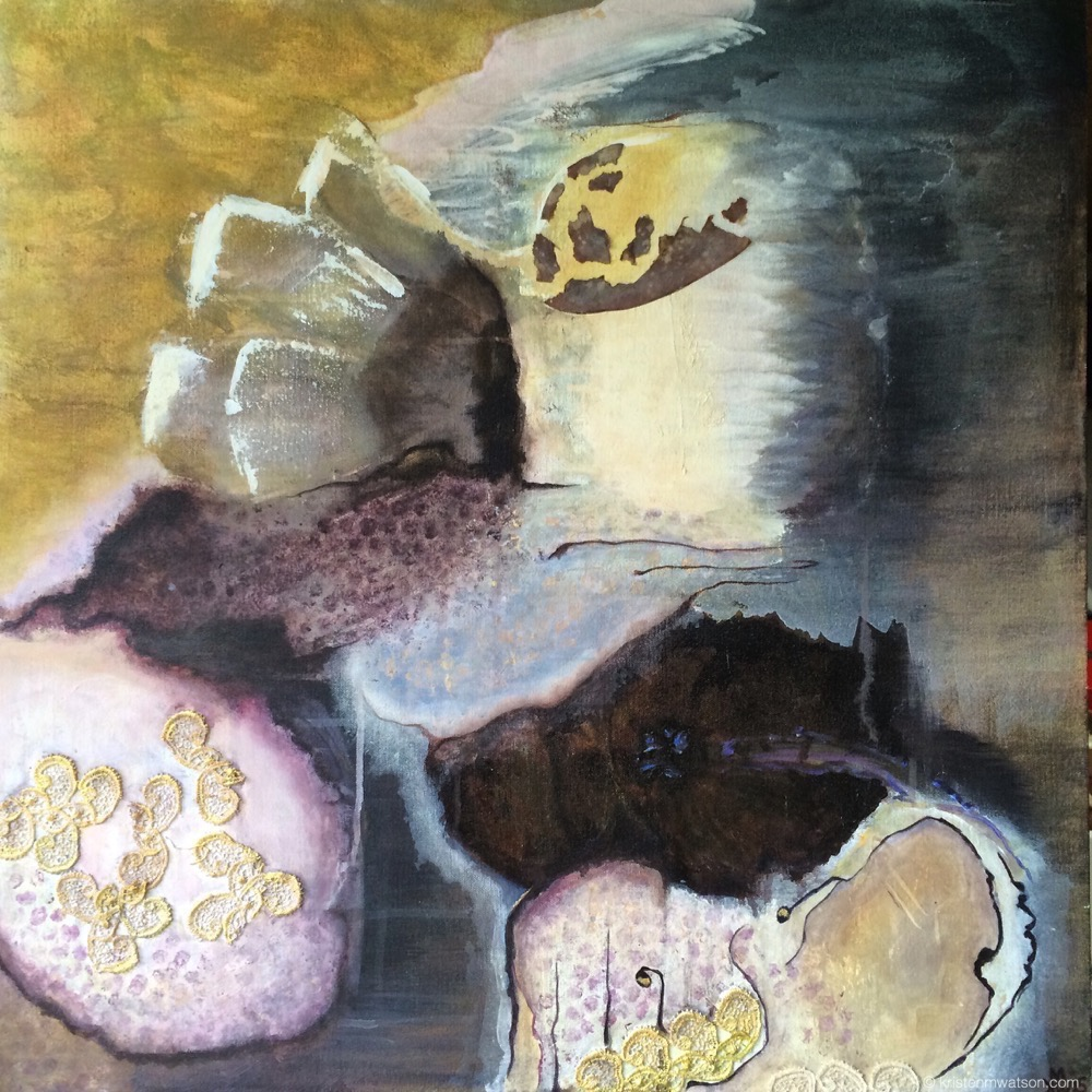 Tide_acrylic mixed media on canvas 23x23in ©2015 Kristen M. Watson art Studio, LLC.jpg