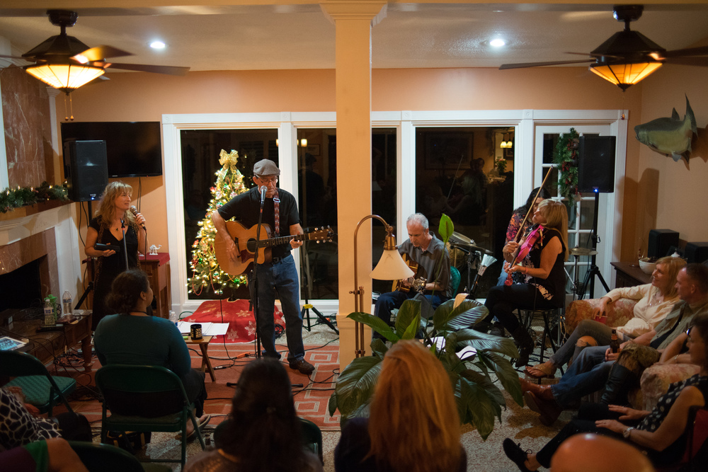JMP at St. Petersburg, FL House Concert December 12, 2015, photo credit: Mitchel Frick