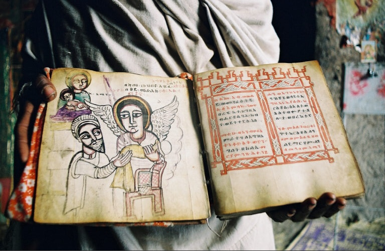 Lalibela Mountain Church Illuminated Manuscript.jpg