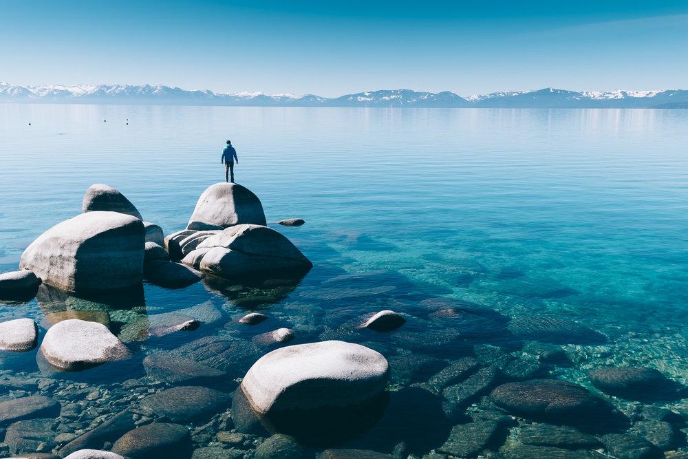 Juan en Lake Tahoe. Foto de Álvaro Sanz