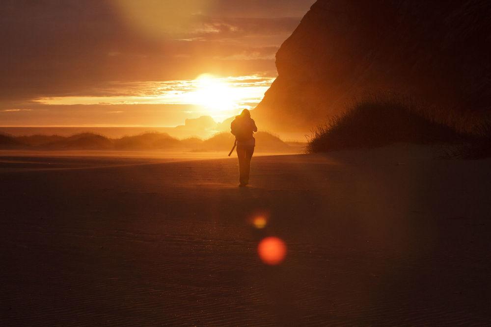 Lucía el Sol en Islas Lofoten. Foto de David Oliete