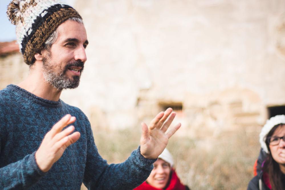 Álvaro y sus clases en las Bardenas.