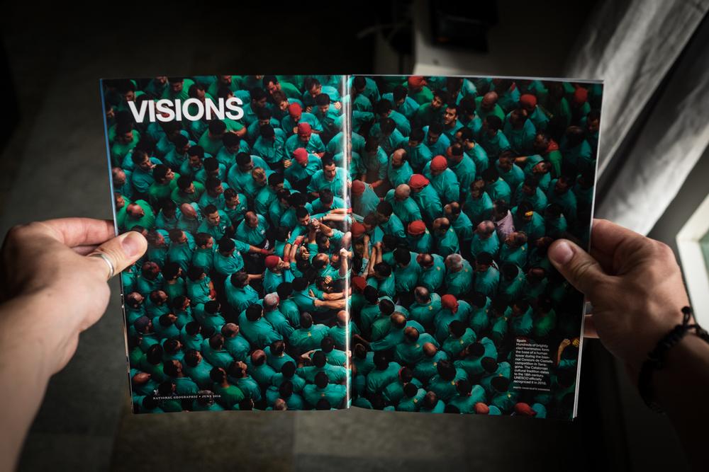 En el número de junio de este año, National Geographic publica el trabajo de David Oliete sobre els Castells.