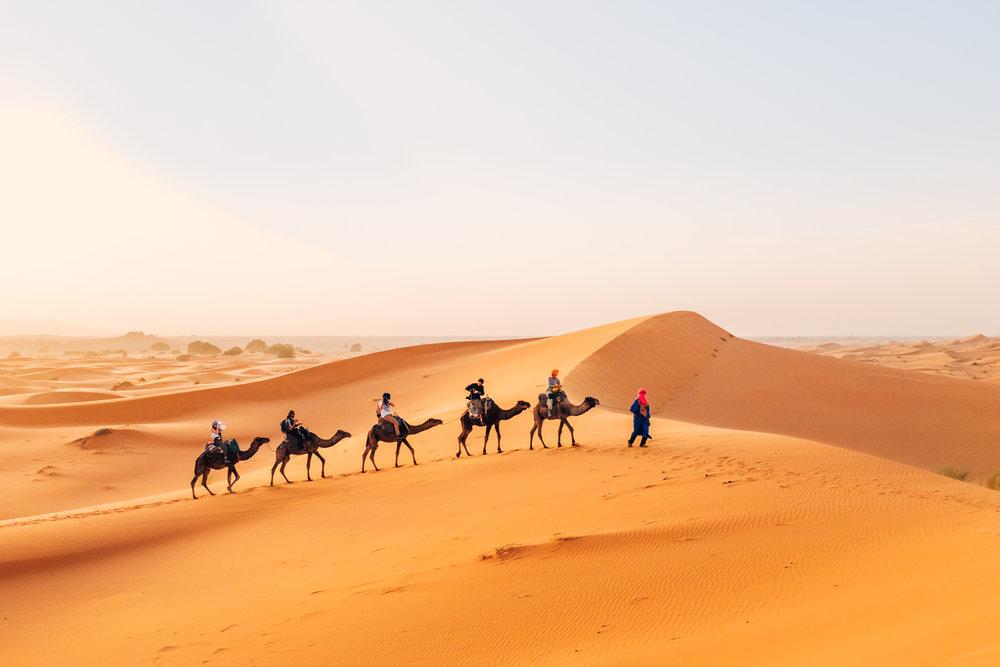 Expedición a la gran duna de Erg Chebbi | Foto: Adrián Cano