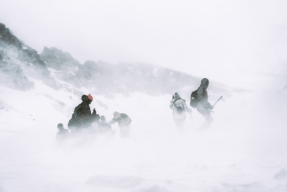 Expedición ascendiendo al Jebel Toubkal | Foto: Ana G. Hernando