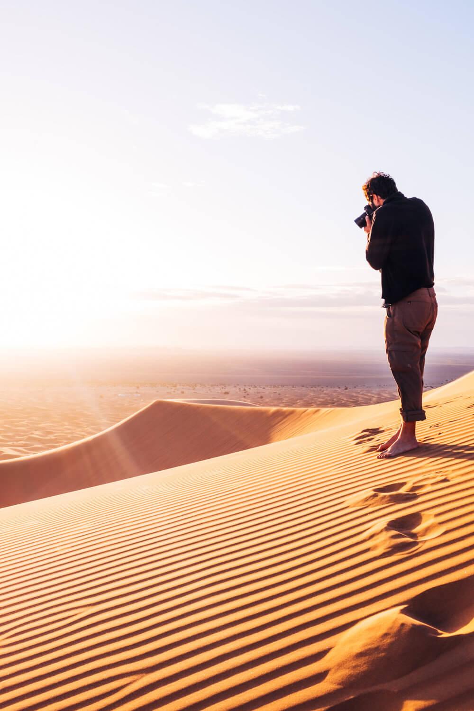 La gran duna de Erg Chebbi en Merzouga | Foto: Adrián Cano