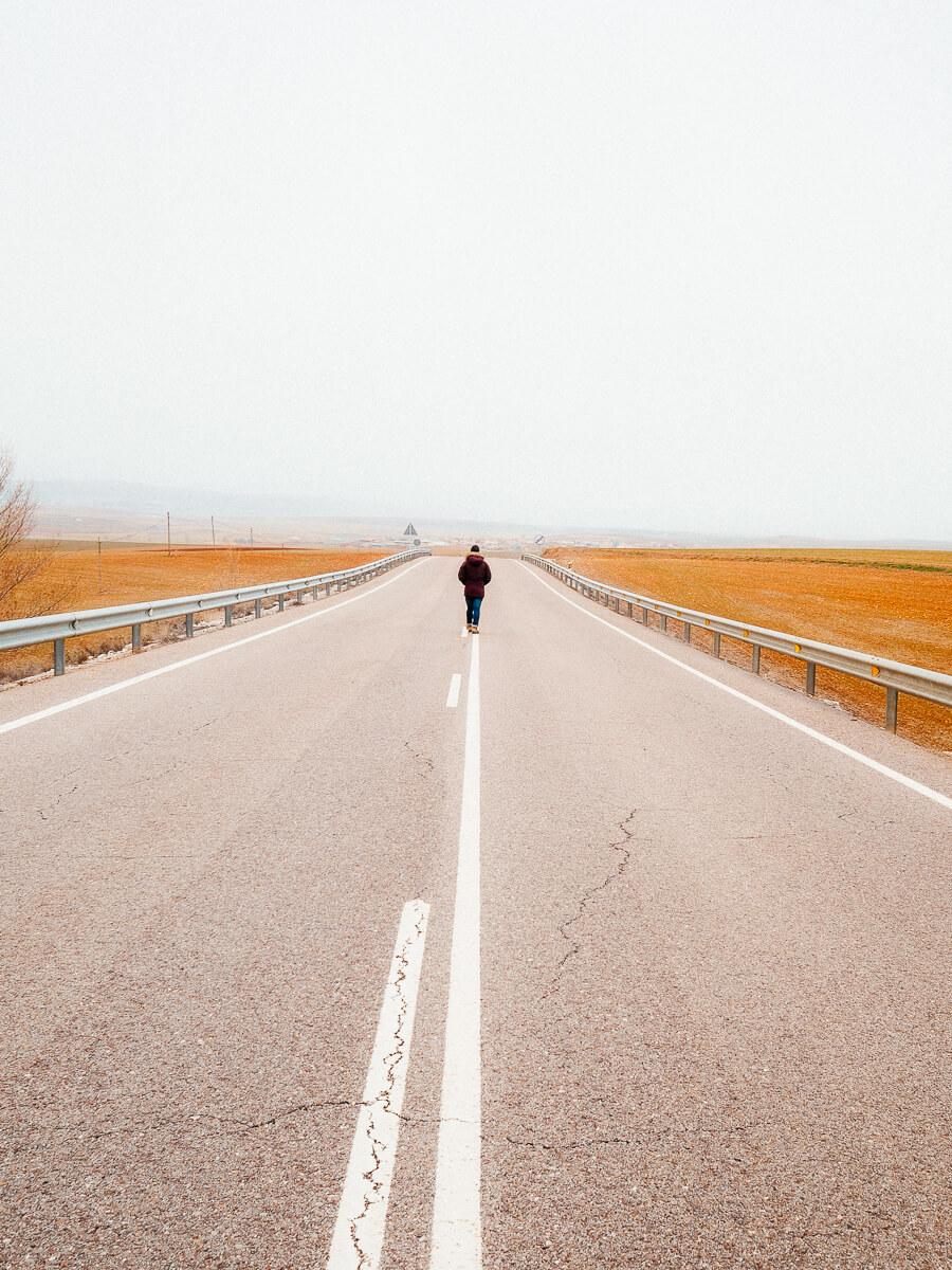 Carreteras desiertas de Gallocanta | Foto: Erea Azurmendi