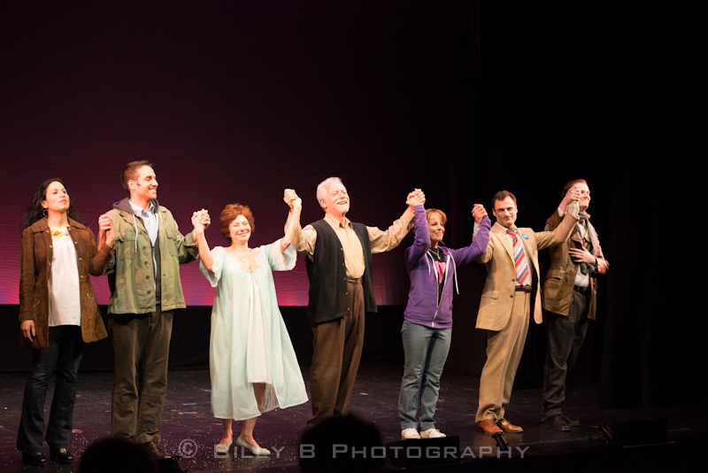 The finale of  A Letter to Harvey Milk , directed by David Schechter.  Pictured are Sarah Corey, Ravi Roth, Cheryl Stern, Jeff Keller, Leslie Kritzer, Michael Bartoli and Michael Padgett.
