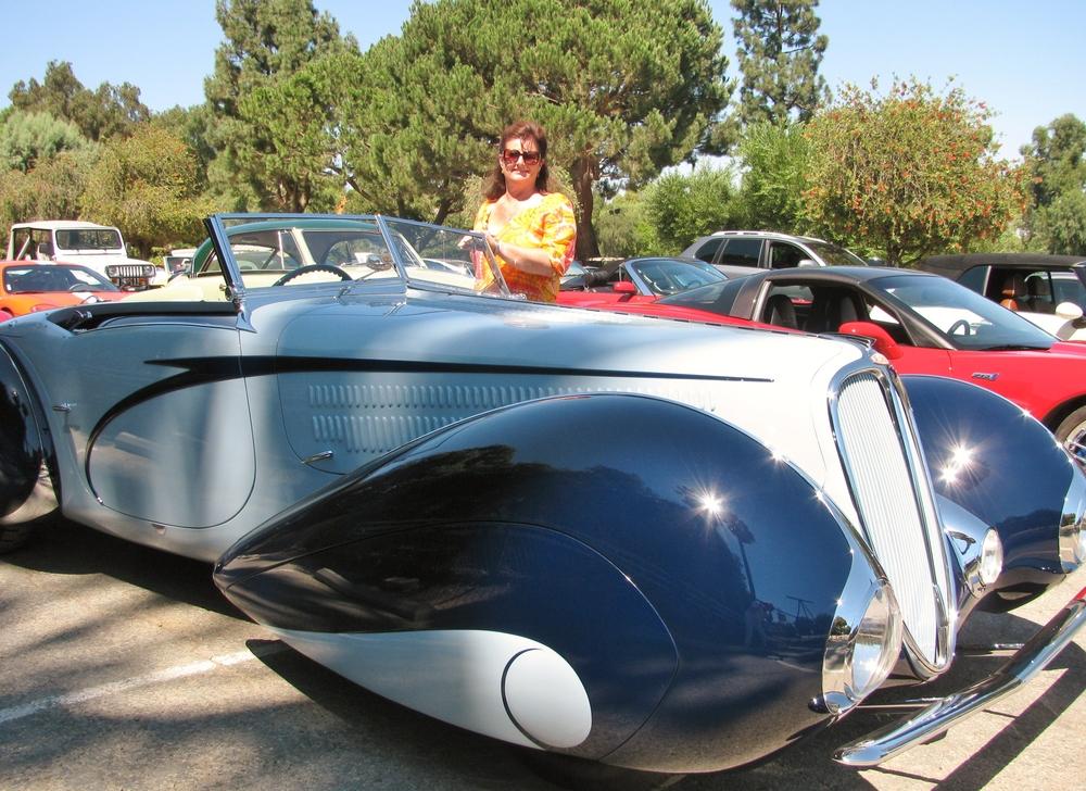 PV Concours 2012, Rallye, Delahaye, 1937 with Gaye Vancans, Terranea Resort. Photo by Kay Finer.JPG