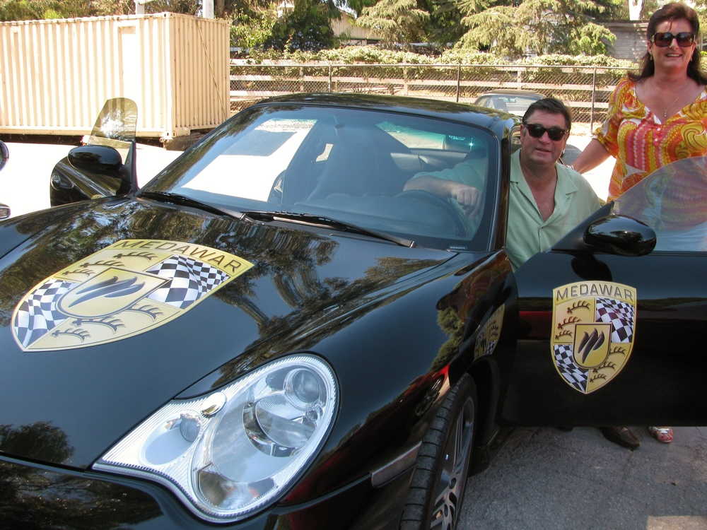 PV Concours 2012, Rallye, Medawar SPONSOR Porsche driven by Neil & Gaye Vancans, Terranea Resort. Photo by Kay Finer.JPG