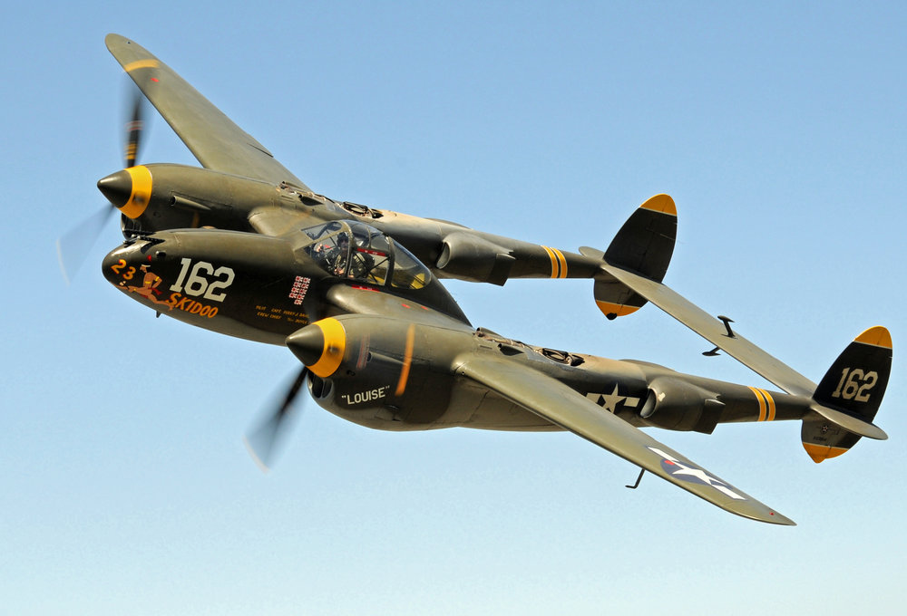 The World War II P-38J 23 Skidoo will fly into Zamperini Airport for the Palos Verdes Concours d'Elegance on Sunday, September 30.