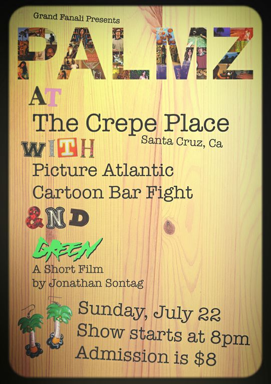 One week from tonight! This is going to be a seriously good one. Playing with one of my favorite Bay Area bands, Picture Atlantic! Check out their brand new album here, and Facebook RSVP here for the July 22nd show. -K