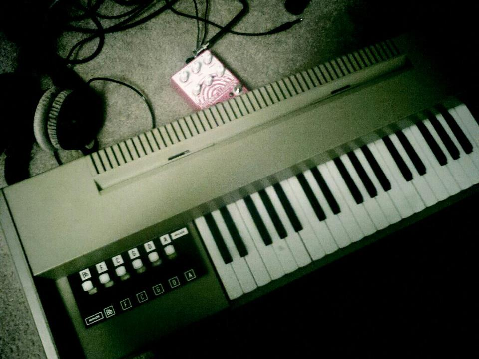 Only a few days left to go until our first album is complete. Pictured: 1950's Magnus organ and Rainbow Machine pedal. The two most useful songwriting pieces yet!