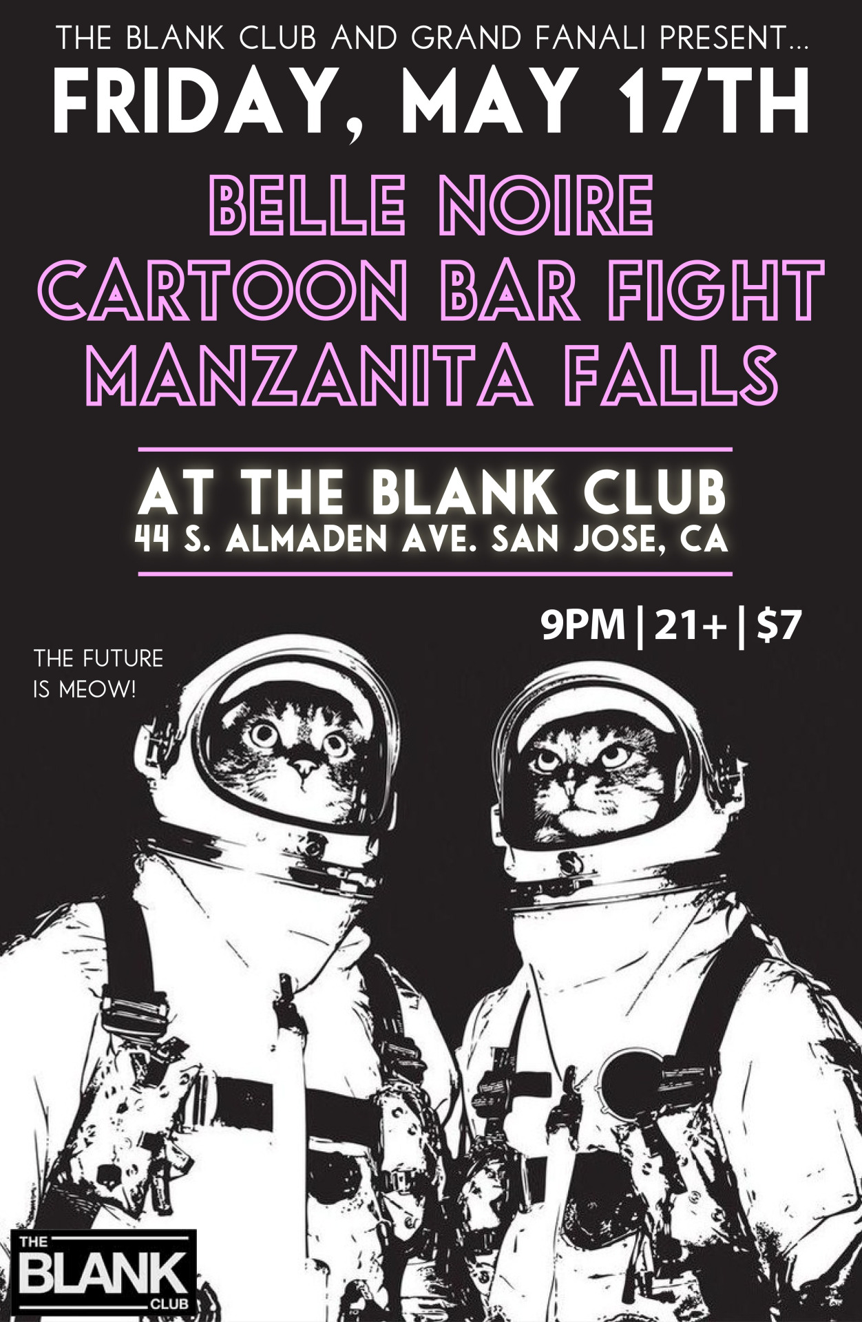Surprise! After a three month songwriting break, we'll be back in action with our friends  Manzanita Falls  and  Belle Noire  at  The Blank Club . FRIDAY MAY 17/9PM/21+/$7. Do us a favor and mark it on your calender…we want to play our new music for you. Especially the sci-fi lovers among you. Facebook invite  here .