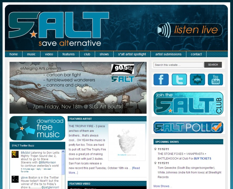 Front page of SALT radio website. :)
