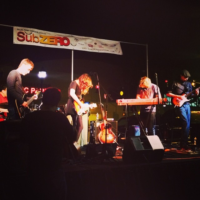 Last night at SubZERO Festival downtown San Jose. We loved this show—thank you. xx   Photo from Erin W.