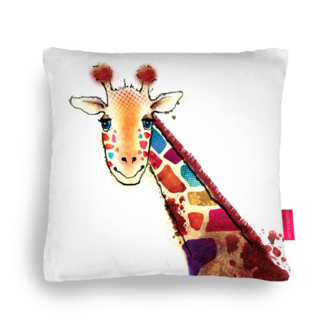 This cushion is now available to buy  here ! Please Like, Share and buy!    http://ohhdeer.com/competition/gilbert-the-giraffe-cushion